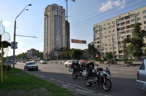 Wir kommen gut voran und sind schon nach wenigen Tagen in Kiew. We did a good job and after a few days we arrived in Kiew.
