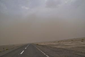 Aufkommender Sandsturm