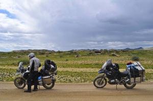 Tiefer Sand, nicht so fein zu fahren Deep sand, not so fine to ride