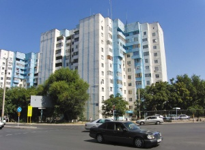 Plattenbau in Shimkent.