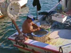 Fischer bei der Arbeit.
