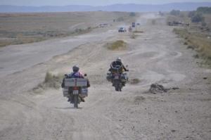 Kasachische Straße. Road in Kasachstan.