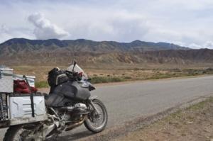In Richtung Karakol/Kirgistan. On the way to Karakol.