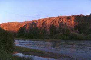 Morgenröte im Sharin Canyon. Morning sun in Sharin Canyon.