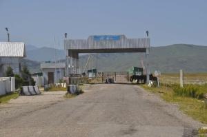 Dieser Grenzübergang zwischen Kasachstan und Kirgistan wurde im Jahr 2010 geschlossen. This boarder between Kasachstan and Kirgistan was closed in 2010.
